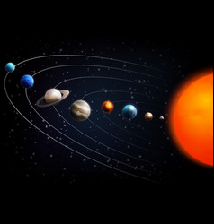 realistic space background vector image
