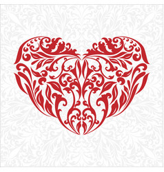 red heart with gray background vector image