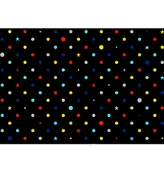 Retro Colorful Dots Black Background vector image