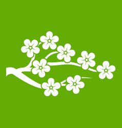 sakura icon green vector image