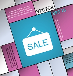 Sale icon sign Modern flat style for your design vector image