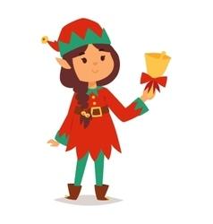 Santa Claus kid cartoon elf helper vector image