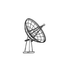 satellite antenna hand drawn outline doodle icon vector image