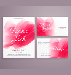 Save the date wedding invitation card with paint vector