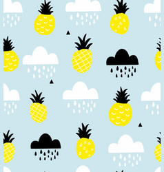 scandinavian style seamless pattern with vector image
