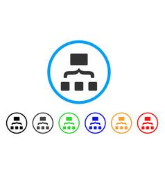 Scheme rounded icon vector