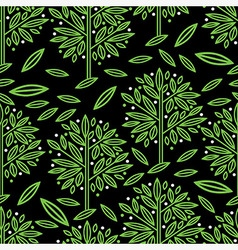 Seamless tree pattern 017 vector