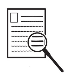 search document icon on white background file vector image