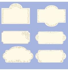 Set doodle frames vector