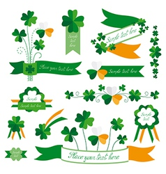 Set of St Patricks Day decorative elements vector image