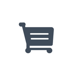 shopping cart icon flat design isolated on white vector image