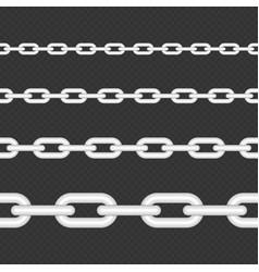 Silver chain seamless vector