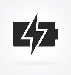 Simple battery charging icon vector