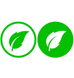 simple leaf icon vector image