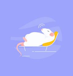 sleeping rat vector image