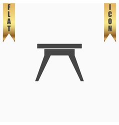 Small table icon sign and button vector image
