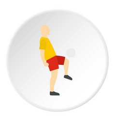 Soccer player icon circle vector