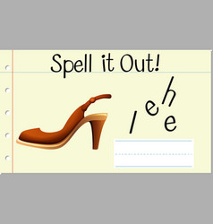 Spell it out heel vector