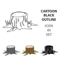 stump icon in cartoon style for web vector image