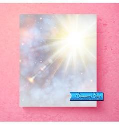 Summer sunburst in a soft ethereal sky vector image
