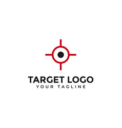 Target aim shot focus logo design template vector