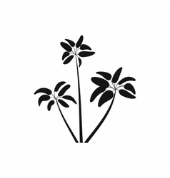 Three palms icon simple style vector