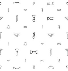 Tie icons pattern seamless white background vector