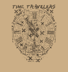 Time travelers vector