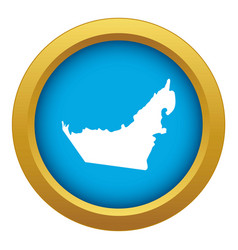 united arab emirates map icon blue isolated vector image