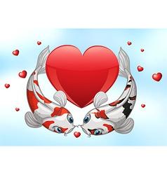 Valentine Koi vector