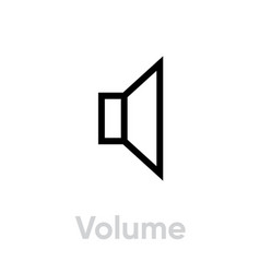 volume sound music icon editable line vector image