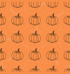White and black pumpkin pattern contour vector