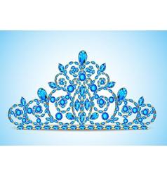 womens gold diadem tiara vector image