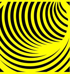 yellow spiral vortex vector image