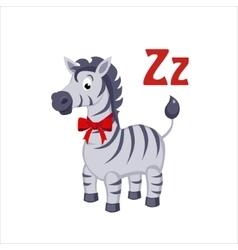 Zebra Funny Alphabet Animal vector image vector image