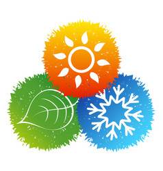 air conditioning bio symbol vector image vector image