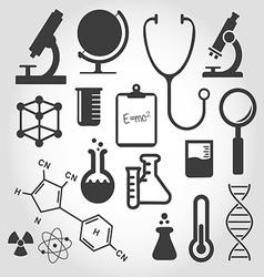 black science icon set vector image vector image