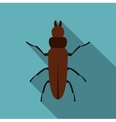 Cockroach icon flat style vector image vector image