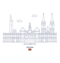 Ho chi minh city skyline vector