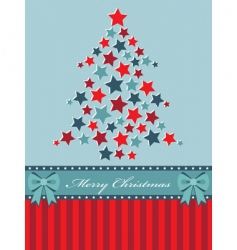 red and blue Christmas tree vector image vector image