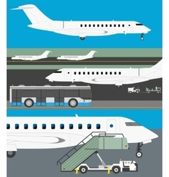 Airport set vector image vector image