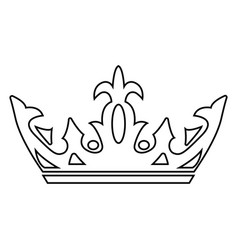abstract elegant crown vector image