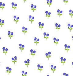 Seamless floral pattern with blueberries vector image vector image