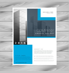 Business brochure design in simple shapes vector