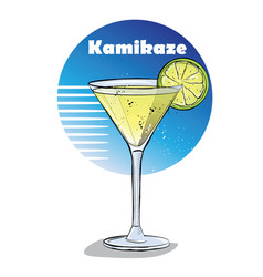 hand drawn of cocktail vector image