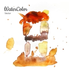 hand painting watercolor dessert Eps10 vector image vector image
