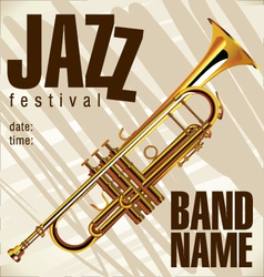 Jazz festival background vector image vector image