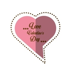 love valentines day card heart shape bubble shadow vector image vector image