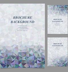Modern geometric brochure template design vector image vector image