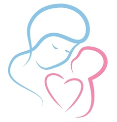 Motherly love vector image